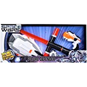 SPACE WARS SERIES: PLANET OF TOYS SPACE WEAPON SET GUN 17CMS, EXPANDABLE SWORD WITH SIDE EXTENSION (LIGHT AND...