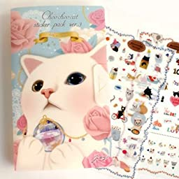 Diary Cartoon Cat Sticker / Choo Choo Label for Scrapbooking & Paper Craft