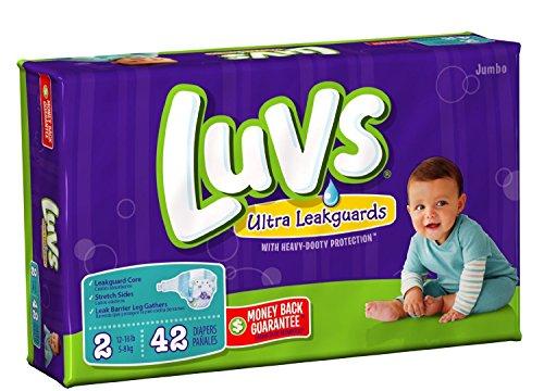 Luvs Ultra Leakguards - Jumbo Pack Size 2 - 42 ct., Size 2