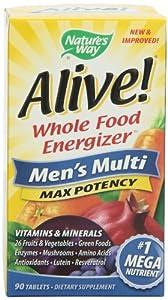 Alive! Men's Max Potency Multivitamin, 90 tablets