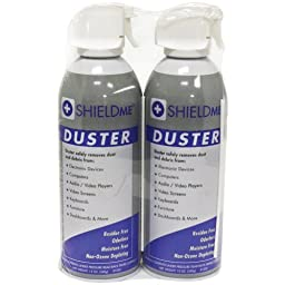1 - Duster (12oz; 2 pk), Delivers a concentrated blast of compressed air to clean dust, dirt & debris from sensitive electronics & hard-to-reach areas, Ideal for cleaning sensitive electronic devices such as keyboards, fax machines, printers & copiers, 10