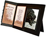Pet Lover Remembrance Gift, Beyond the Rainbow Poem, Memorial Pet Loss Picture Frame Keepsake and Sympathy Gift Package, Black with Foil Accent