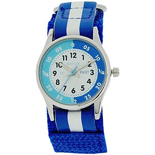 Reflex Time Teacher Blue & White Velcro Strap Boys Kids