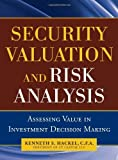 img - for Security Valuation and Risk Analysis: Assessing Value in Investment Decision-Making Hardcover - October 20, 2010 book / textbook / text book