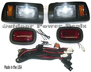 Premium Club Car DS Golf Cart Headlight -Tail Light Kit by GOLF CARTS UNIVERSE