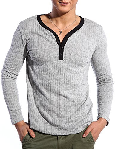 Godsen Ultra 100% Cotton Long-sleeve T-shirt (US-XS/China-M, GM1013A) (Footed Thermal Underwear compare prices)