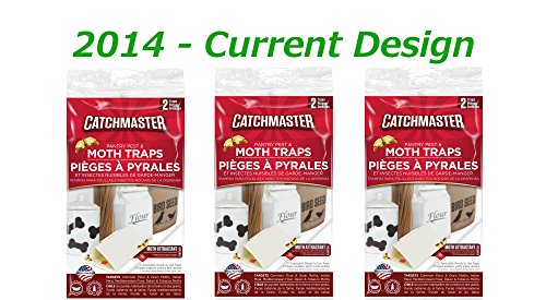 Catchmaster 6 Pantry Moth Traps (3 Packs of 2 Each) - 2014 Freshest Lures
