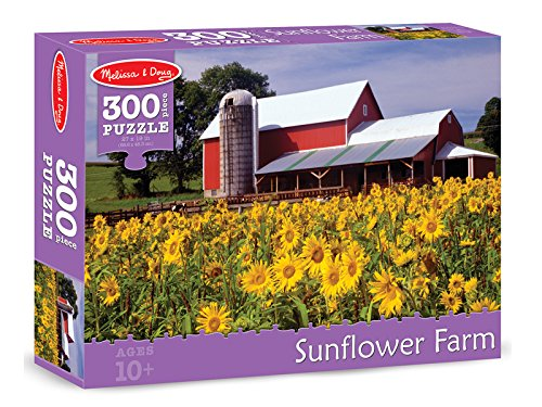 Melissa & Doug Sunflower Farm Cardboard Jigsaw Puzzle, 300-Piece