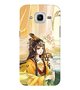 EPICCASE fairy princess Mobile Back Case Cover For Samsung J2 2016 (Designer Case)