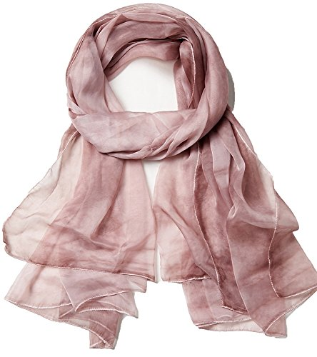 Women Spring Summer Chiffon Solid Scarf Beach Wraps Sunscreen Shawls Light Purple