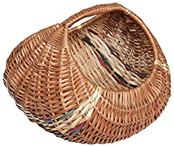 Novelty Cane Art Rattan Storage Basket (28 cm x 28 cm x 23 cm, Brown)