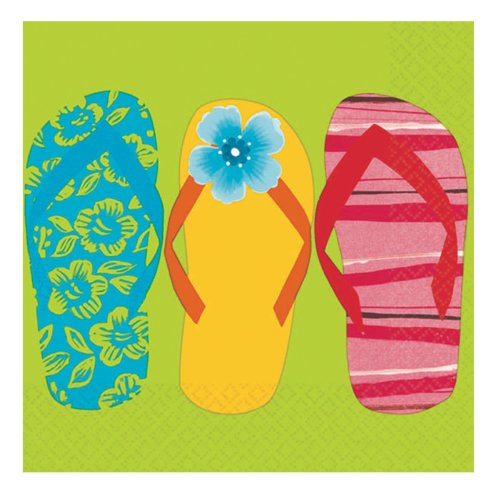 Flip Flop Beverage Napkins Party Accessory