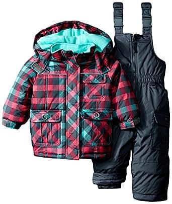 rugged bear baby girls 39 plaid snowsuit. Black Bedroom Furniture Sets. Home Design Ideas