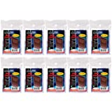 10 (Ten) Pack Lot of 100 Soft Sleeves / Penny Sleeve for Baseball Cards & Other Sports Cards (Packaging May Vary)