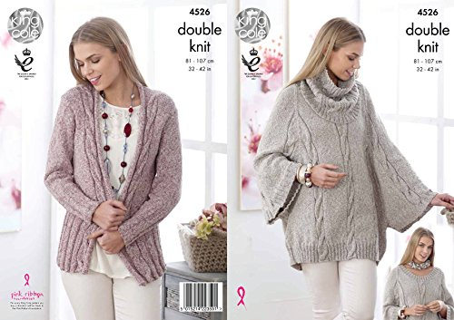 Cowl collar poncho and cardigan