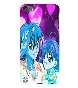 Fuson Love Couple Back Case Cover for APPLE IPOD TOUCH 5 5th Gen - D3858
