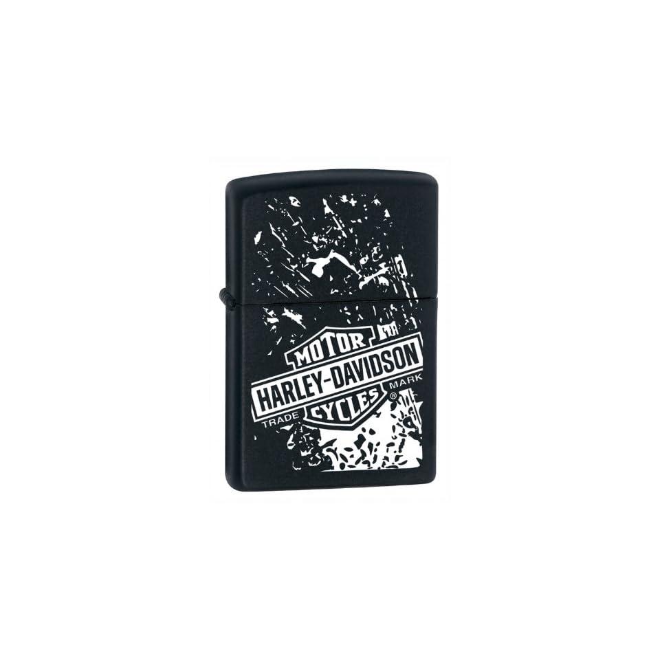 Zippo Harley Davidson Graphic Black Matte Lighter Kitchen