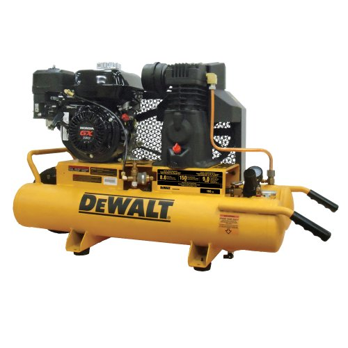 DEWALT DXCMH1608WB 8-Gallon Honda Gas Powered Air Compressor, Wheelbarrow