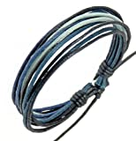 Neptune Giftware Mens Surf Surfer Style Multi-Coloured Cord Bracelet Wristband - 193