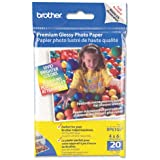 Brother : Glossy Premium Innobella Photo Paper, 4 x 6, 20 Sheets per Pack -:- Sold as 2 Packs of - 20 - / - Total of 40 Each