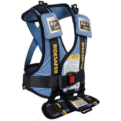 Safe Traffic System Ride Safer 2 Travel Vest, Blue, Small front-31573