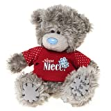 Me to You, Tatty Teddy, Grey Teddy Bear Wearing A 'Niece' T-shirt, Sits 6