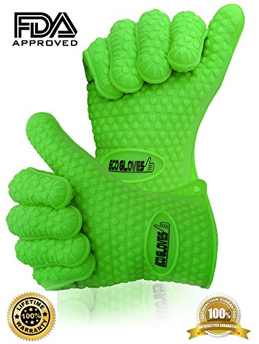 ♛ Best Barbecue Gloves ★ 2 High Heat Resistant Cooking Mitts ★ Complete Your Barbecue Tools Set With The Best Smoking, Baking, Grilling, Camping, Kitchen, Oven, Fireplace, Microwave Gloves ★ Perfect As Barbeque Gloves, Silicone Oven Mitt Or Working Gloves