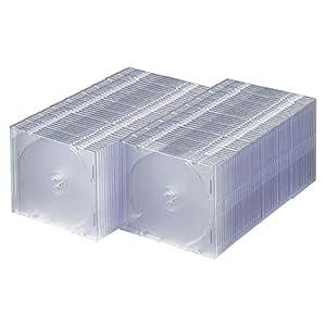 サンワサプライ 1枚収納×100 スリムBD DVD CDケース クリア FCD-PU100C