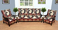 WOW Polycotton 5 Seater Sofa Cover - sc007, Multi Color