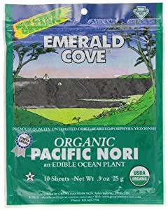 Emerald Cove Organic Nori Sheets, 0.9-Ounce Package (Pack of 6)