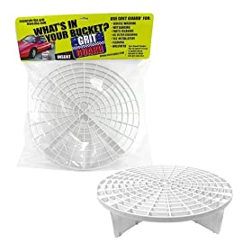 Grit Guard Bucket Insert (White) - Separate Dirt From Your Sponge While Washing Your Car - Fits 12 Inch Diameter Buckets