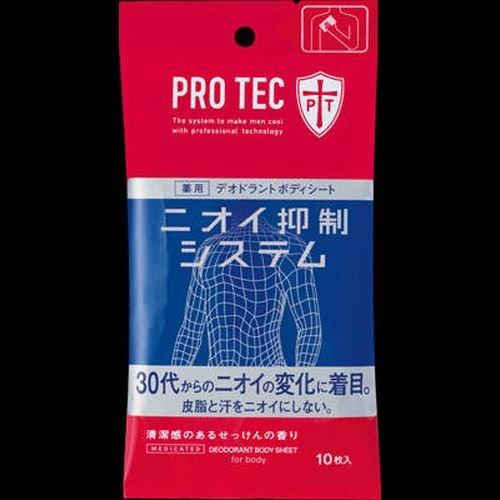 PRO TEC デオドラントボディシート 10枚