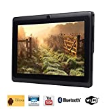 Tagital T7X 7 Quad Core Android 44 KitKat Tablet PC - Bluetooth - Dual Camera - Play Store Pre-installed - 2015 Newest Model Black
