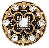 Ginger Snaps BRASS HEYDAY CRYSTAL SN06-80 Interchangeable Jewelry Snap Accessory