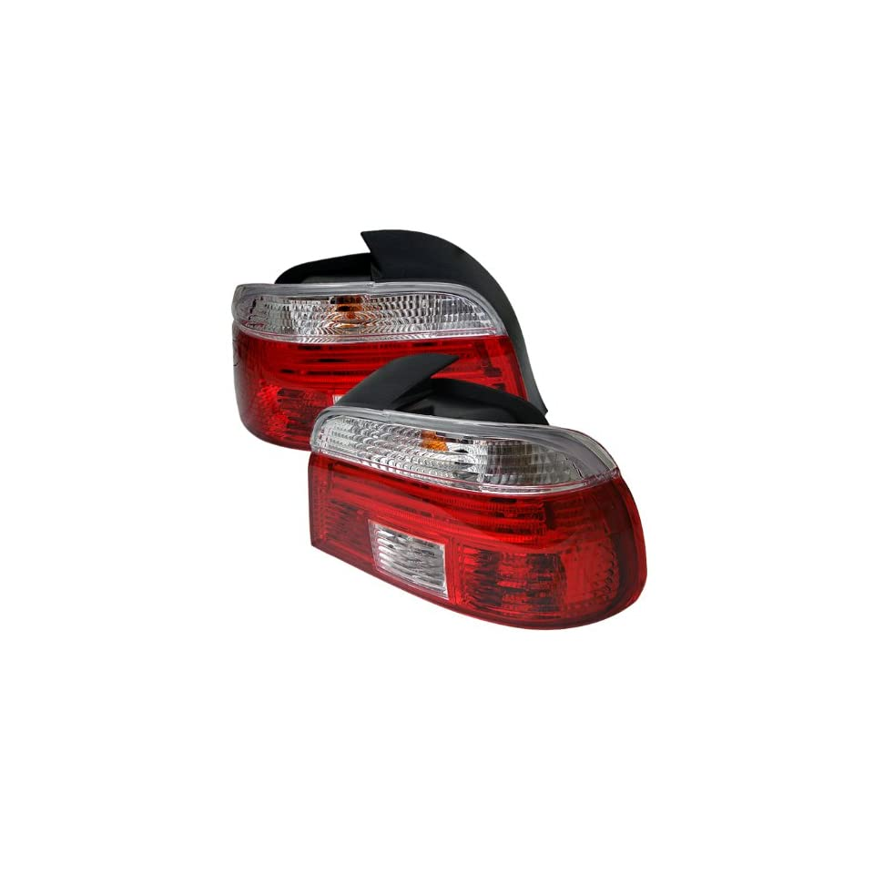 BMW E39 5 Series 97 03 Tail Light   Red Clear