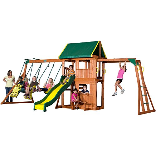 Flexible Flyer Play Park Metal Swing Set Four Passenger Lawn Swing  Two Passenger Air Glider W/ 6u2032 Wave Slide And Deluxe Trapeze Swing. Kids  Find These New ...