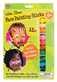 Face Painting Sticks 12 Color Set -Long Lasting Twist up Crayon Style Sticks