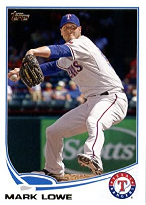 2013 Topps Baseball Card #57 Mark Lowe - Texas Rangers - MLB Trading Cards