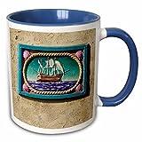 Danita Delimont - California - Decorative tile, Catalina Island, California - US05 AJE0029 - Adam Jones - 11oz Two-Tone Blue Mug (mug_88130_6)