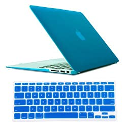 HDE® Frosted Rubberized Hard Shell Case + Matching Keyboard Skin for Macbook Air 11.6