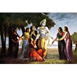 Tallenge - Krishna With Gopis - A3 Size Rolled Poster