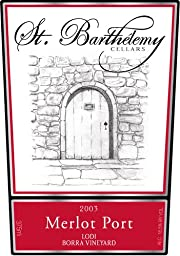 2003 St. Barthelemy Cellars Merlot Port 375mL