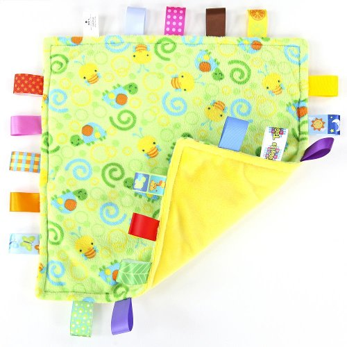 Little Taggies - Oh Beehive! Baby Blanket (Bumblebee and Turtle) - 1