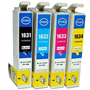 Compatible Epson Workforce WF-2520NF Ink Cartridges 1X Black 1X Cyan 1X Magenta 1X Yellow (4-Pack)