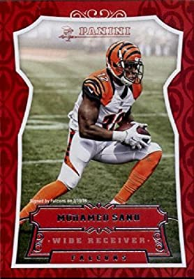 2016 Panini #64 Mohamed Sanu Atlanta Falcons Football Card in Protective Screwdown Display Case