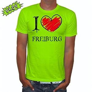 I love Freiburg FUN NEON Herren T-Shirt