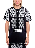 Nicolò Tonetto Camiseta Manga Corta Block Visto Unisex (Negro)