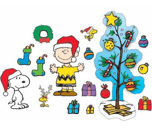 Eureka A Charlie Brown Christmas Bulletin Board Set, 27 Reusable Punch Out Pieces front-954203