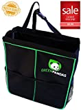 GreenPandas Car Garbage Can - Auto Trash Bag. Perfect Size, Leakproof Multiuse Unit That Fits Any Car. Easy to Install, Remove and Carry Around. Store Toys, Junk... Keep It Tidy!
