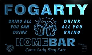 q14902-b FOGARTY Family Name Home Bar Beer Mug Cheers Neon Light Sign